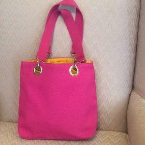 Relativity canvas pink handbag